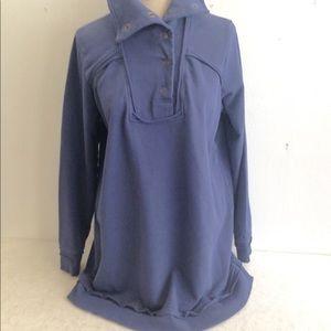Soft Surroundings Unfinished Edge Sweatshirt Tunic